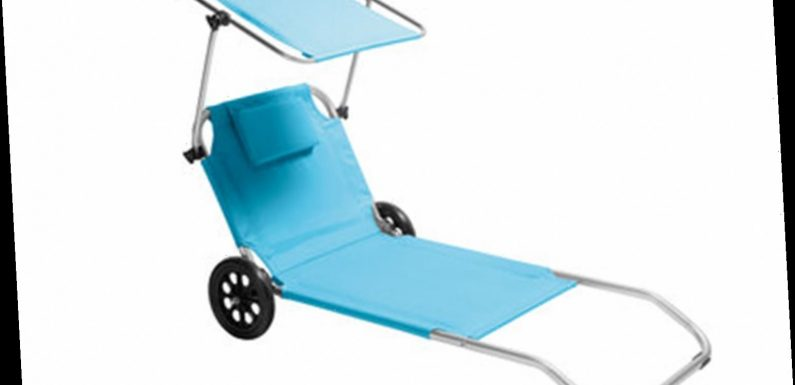 Lidl is selling sunloungers with built-in face shade – and it doubles up as a trolley