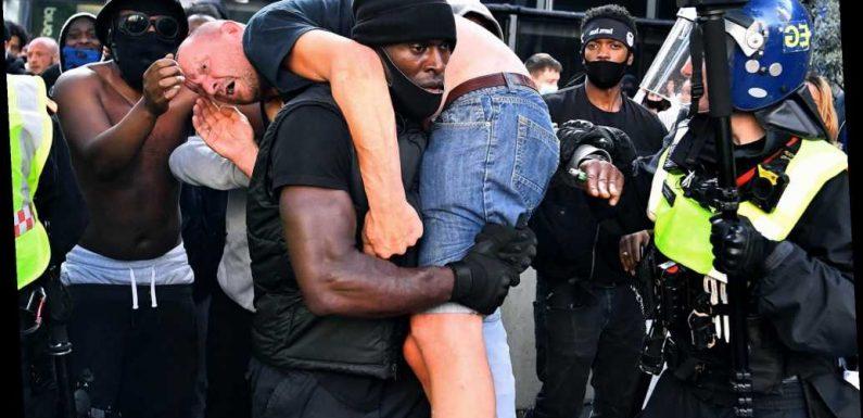 Black protester who carried white man to safety tried to avoid 'catastrophe'