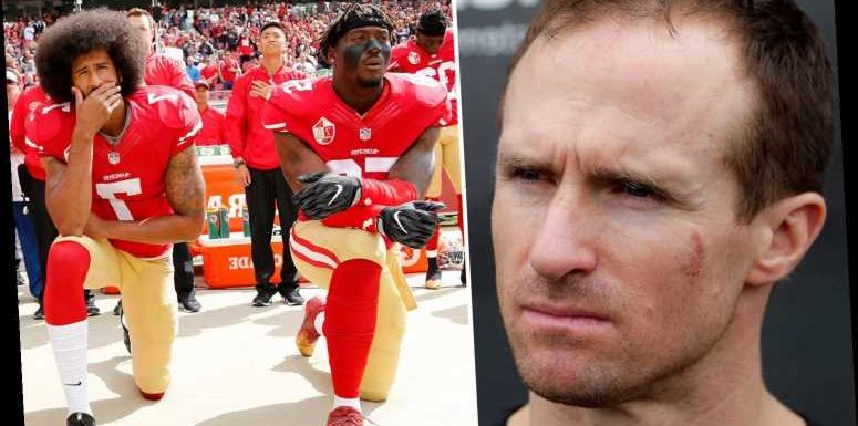Drew Brees sorry after being ripped by teammates for saying he will never support kneeling protest – The Sun