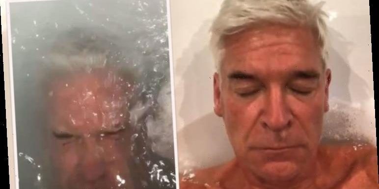 Phillip Schofield shares intimate bath video in rare move during This Morning break