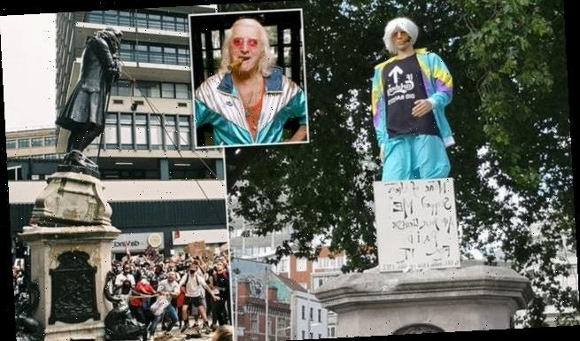 Edward Colston replaced with a dummy of paedophile Jimmy Savile