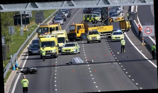 M23 and section of M25 are closed after motorcyclist killed in crash