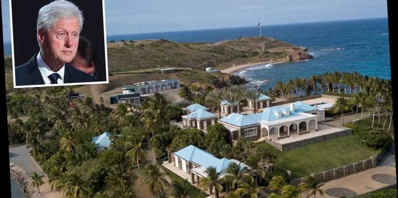 Bill Clinton 'stayed in own private villa on paedo island after flying in with Jeffrey Epstein and two young girls'
