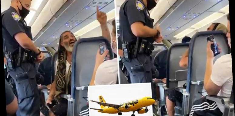 Video shows man thrown off Spirit flight from New York to Florida for refusing to wear a coronavirus mask – The Sun
