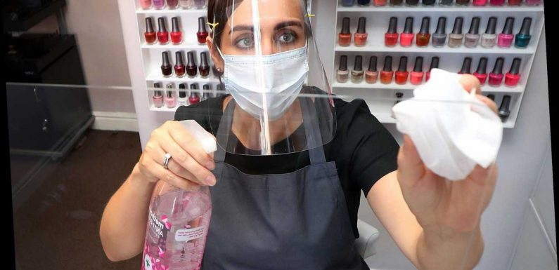 Beauty salons reopen: How they're gearing up with perspex screens and visors for staff