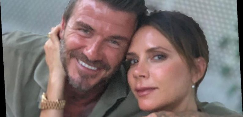 Victoria Beckham's plunging wedding anniversary outfit totally surprised us