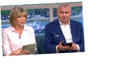 This Morning's Eamonn Holmes reads out a message about balls from 'Ophelia Butts' – and fans reckon he's being pranked – The Sun