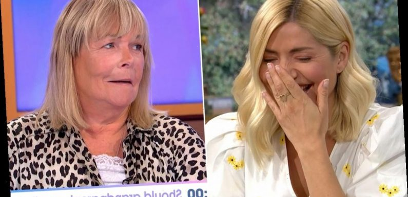 Oops! 8 TV stars who accidentally broke social distancing rules on air including Holly Willoughby and Ben Shephard