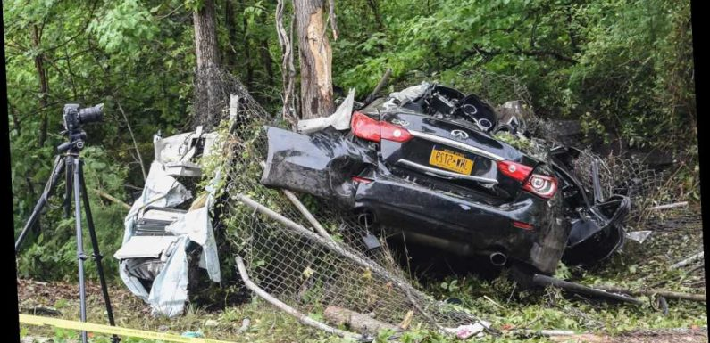 Teen clinging to life after smashing SUV into tree on Staten Island