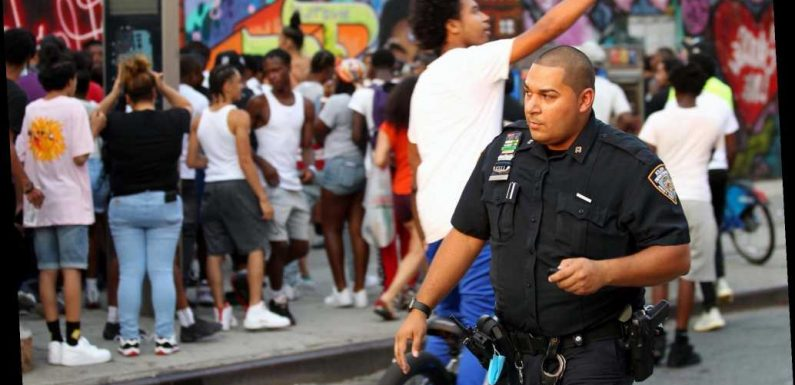 NYPD cops don't lift a finger as 11-year-old is beaten in broad daylight