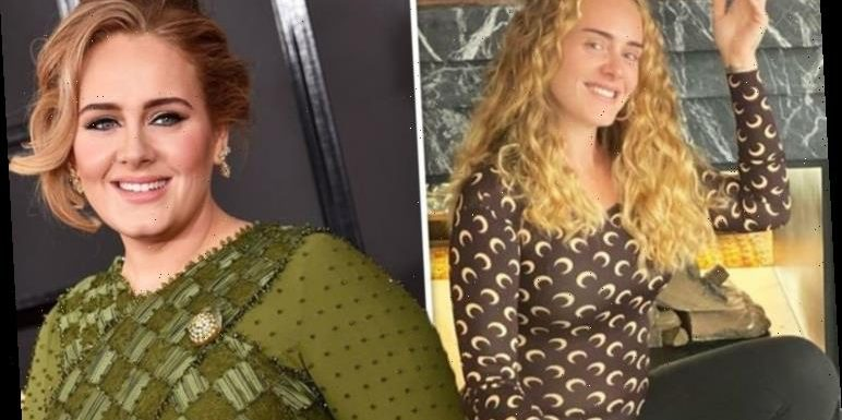 Adele looks unrecognisable as she stuns in make-up free snap after seven stone weight loss