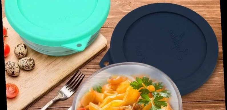 If You Have Pyrex Bowls, You'll Love These Sturdy Lid Alternatives That Stretch To Fit