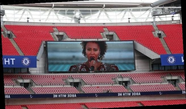 FA Cup final opens to Emeli Sande performing to empty stadium