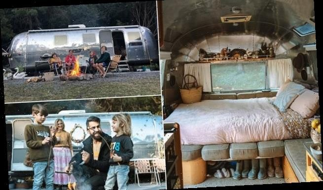 This family of six live in a VAN next to their home