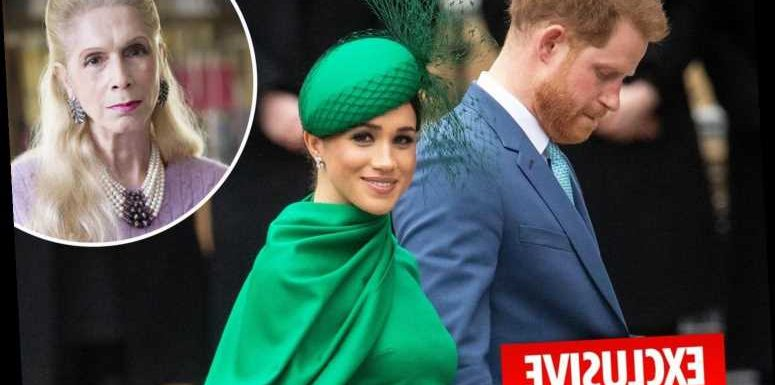 Royal biographer Lady C says 'weak' Harry was taken away from his family by 'Shakespeare villain' Meghan