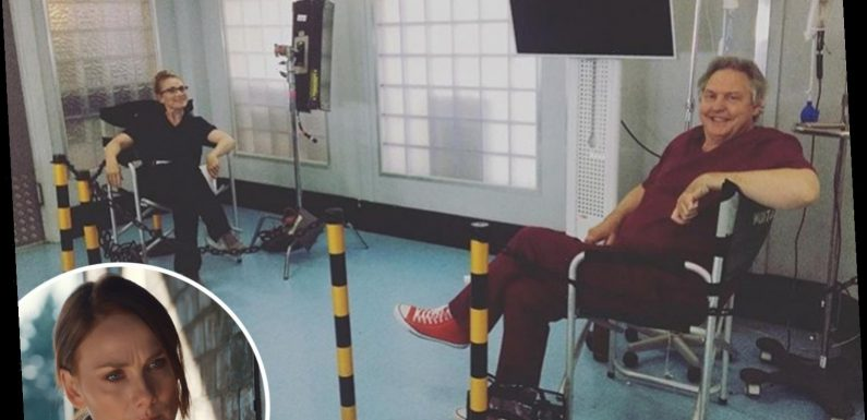 Holby City's Rosie Marcel shares sneak peek at socially distanced filming as BBC forced to pull show from air