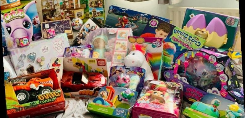 Savvy parents are showing off their huge Christmas hauls they've picked up in the Argos and Asda sales