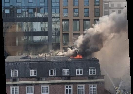 Bournemouth fire – Block of flats in flames as roof collapses and beachgoers urged to 'stay away' from main road