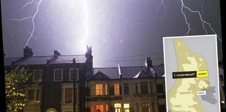 UK weather tomorrow – Britain braced for FOUR DAYS of thunderstorms with lightning and floods across country