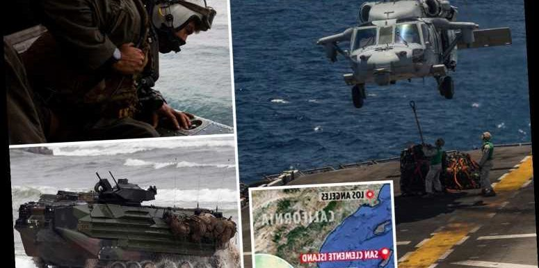 Eight Marines and one sailor 'dead' and two 'critical' after sea tank SANK several hundred feet during training