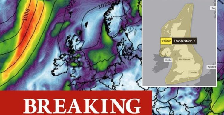 Met Office weather warning: FOUR days of lightning storms to smash Britain – new maps