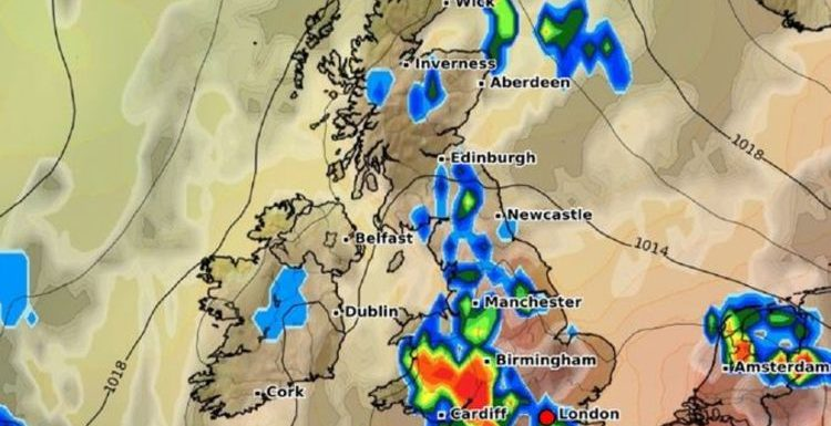 Met Office thunderstorm warning: Tropical 97F heatwave to sweep in blistering storms
