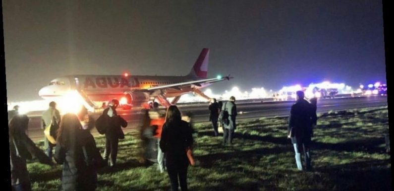 Ten Ryanair passengers hurt after being wrongly evacuated from jet on runway as air stewardess panicked