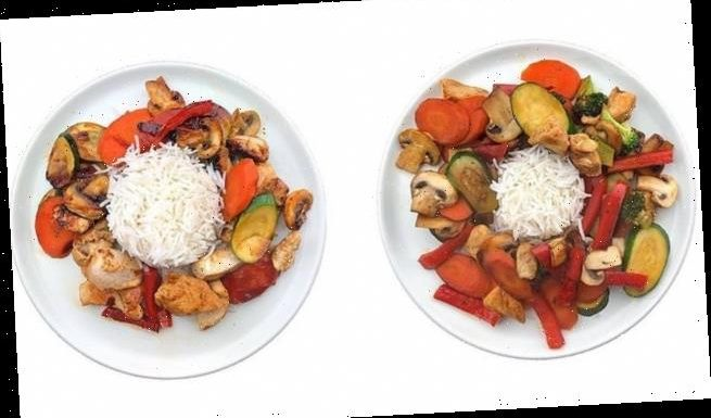 Dietitian shares photos of meals – but one comes with more calories