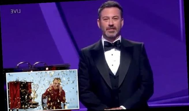 Jimmy Kimmel jokes about 'reporting John Oliver to ICE' at Emmy Awards