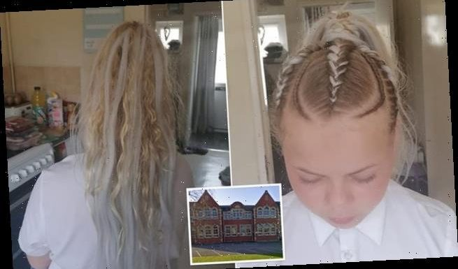 Girl, 12, told to lose hair extensions as dad claims 'discrimination'