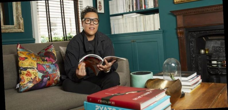 Gok Wan gives a tour of his ultra-glamorous London home with enviable interiors and room filled with blossom