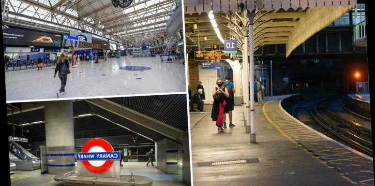 London's busiest stations deserted after Boris Johnson tells office workers to work from home again