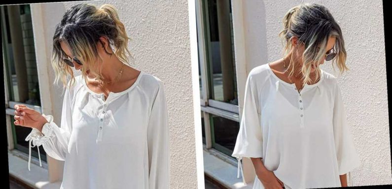 This Chiffon Top Has the Coolest Accent Sleeves We've Seen All Year