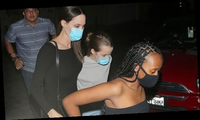 Angelina Jolie Spends National Daughter's Day With Zahara, 15, & Vivienne, 12, At Hollywood Hotspot