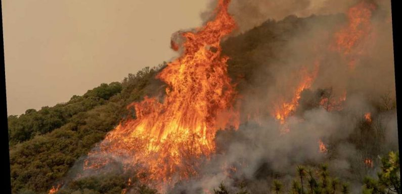 NASA measures California wildfire temperatures from ISS
