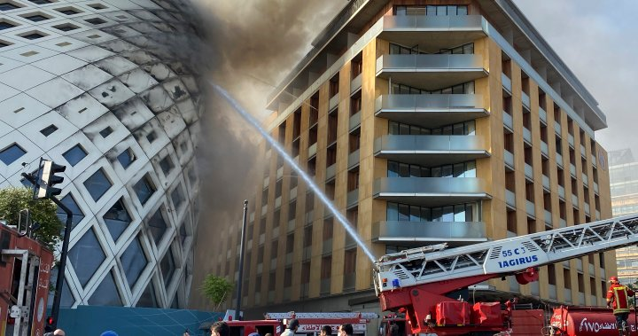 Fire in Beirut commercial district leaves residents rattled