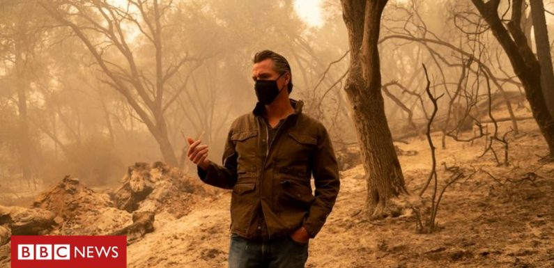 Climate change caused fires – California governor