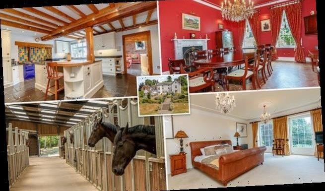 Seven-bedroom home which comes with its own HORSE RIDING centre