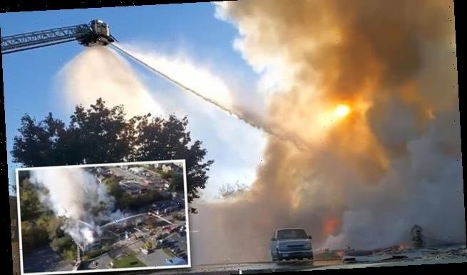 Three injured in huge 'gas explosion' at Virginia shopping center