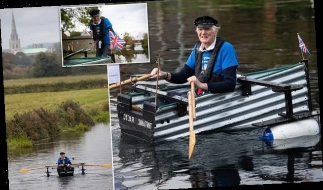 Retired Army major, 80, embarks on 100 mile charity row in 'Tintanic'