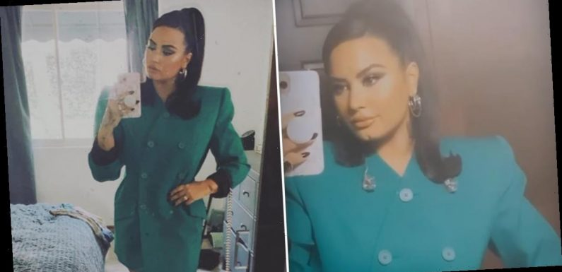 "Demi Lovato Is ""Servin' Lewks"" in a Fierce Blazer Dress a Week After Her Split From Max Ehrich"