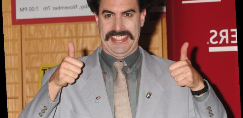 Sacha Baron Cohen Once Gave a Press Conference as Borat — Here's What We Learned From It