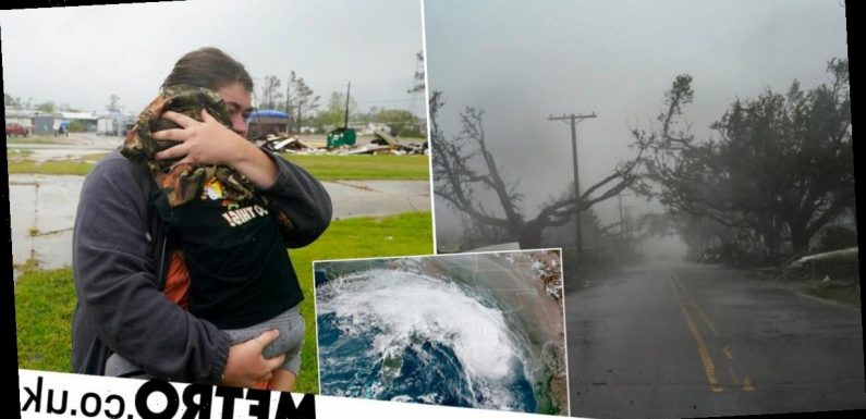 Record-breaking Hurricane Delta hits US mainland with 100mph winds