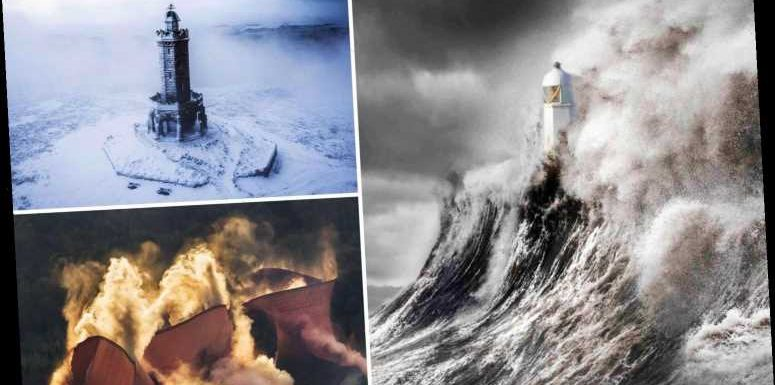 Breathtaking British landscapes from colossal waves to dramatic demolitions to feature in new book