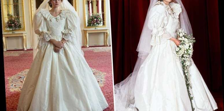 The Crown's Emma Corrin looks just like Princess Diana in amazing wedding dress for series four teaser