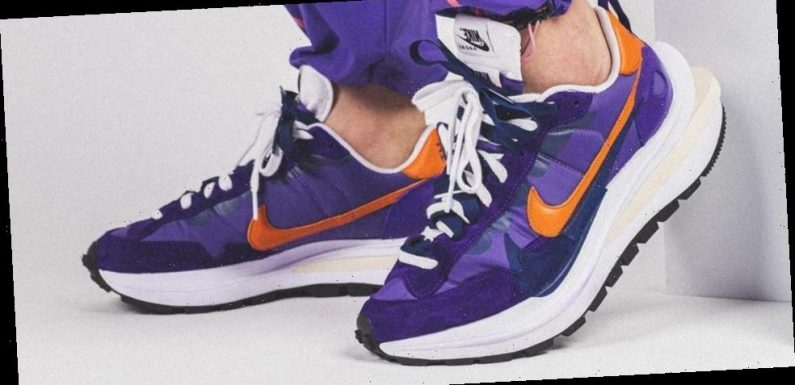 First Look at the sacai x Nike Vaporwaffle In Purple and Orange