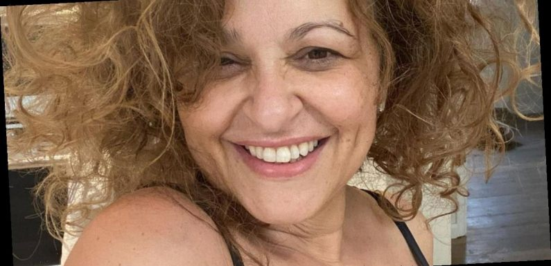 Nadia Sawalha strips to underwear to bare unedited curves in empowering snap