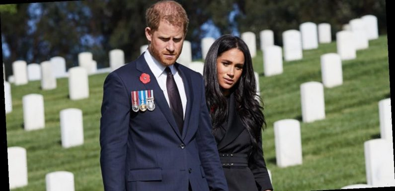 Prince Harry and Meghan Markle visit graves on Remembrance Day after he is 'refused' request to have wreath laid at Cenotaph