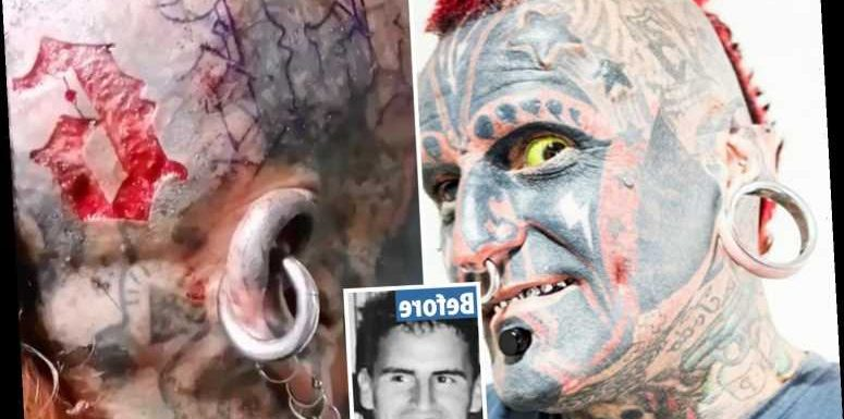 Tattoo addict has number six CARVED into his scalp and plans to get the Devil's 666