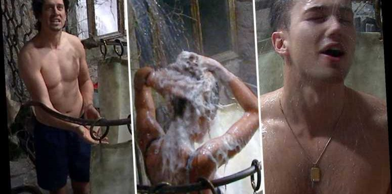 I'm A Celebrity fans go wild as Jessica Plummer, Vernon Kay and AJ Pritchard strip off for steamy showers